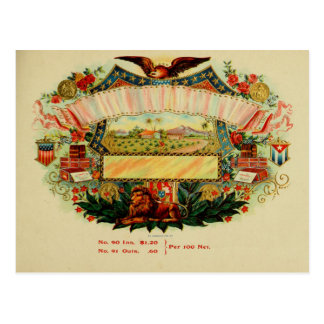 Vintage Cigar Box Label Postcard