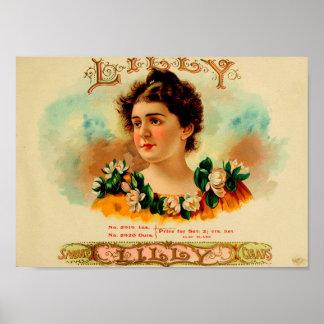 Vintage Cigar Box Label Poster