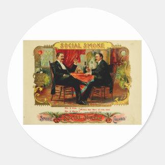 Vintage Cigar Box Label SOCIAL SMOKE  (L4)