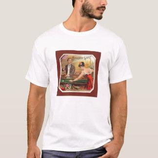 Vintage Cigar Label Billiard Players T-Shirt