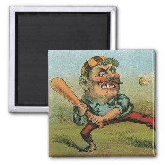 Vintage Cigar Label, Sports Baseball Tansill Punch Magnet