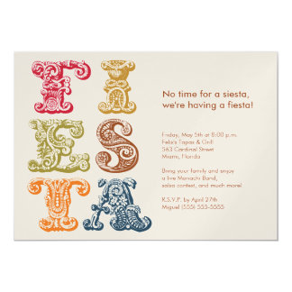 Vintage Cinco de Mayo Fiesta Invitation