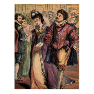 Vintage Cinderella and Prince at the Ball Postcard