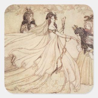Vintage Cinderella (Ashenputtel) by Arthur Rackham Stickers