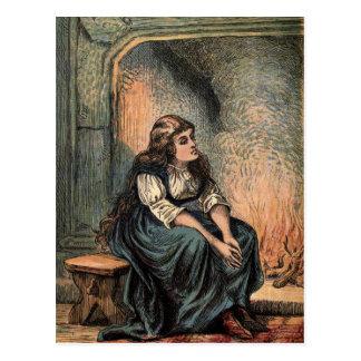 Vintage Cinderella Drawing Postcard