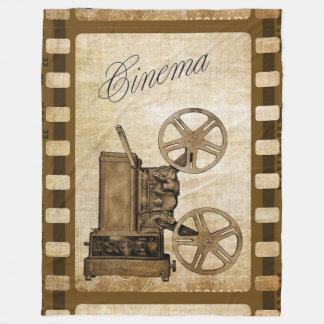 Vintage Cinema Fleece Blanket