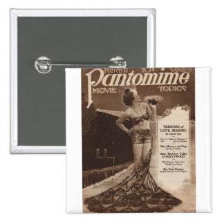Vintage Cinema: Mae Murray 15 Cm Square Badge