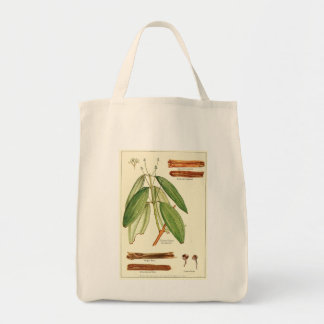 Vintage cinnamon illustration groceries tote bag