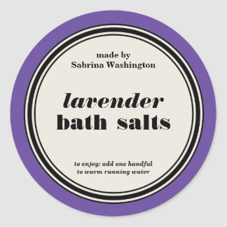 Vintage Circle Frame Bath Salts Label Template