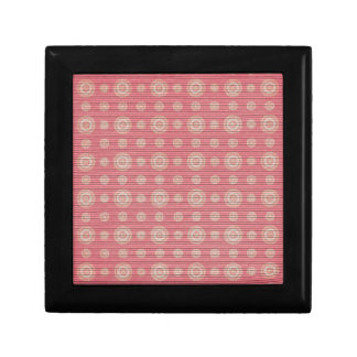 vintage circle pattern small square gift box