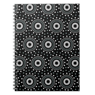 Vintage circles spiral notebook