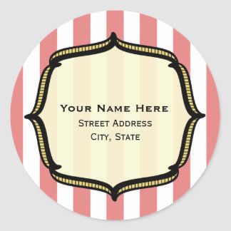Vintage Circus Address Sticker