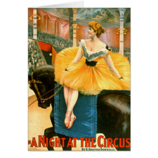 Vintage Circus Advertisement 1893 Card