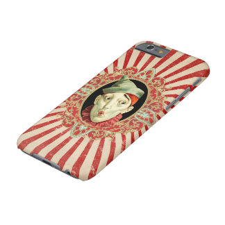 Vintage Circus Clown and Distressed Stripes Patter Barely There iPhone 6 Case