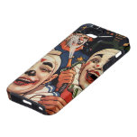 Vintage Circus Clowns, Silly Funny Humourous iPhone 5 Case