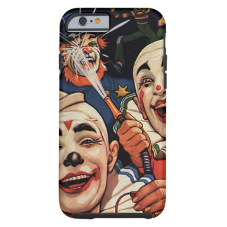 Vintage Circus Clowns, Silly Funny Humourous Tough iPhone 6 Case