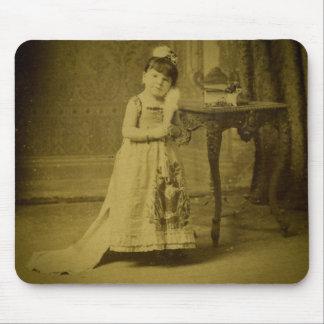 Vintage Circus Freak Woman Mouse Pad
