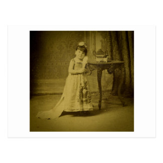Vintage Circus Freak Woman Postcard