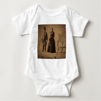 Vintage Circus Freaks Major Ray and His Wife Baby Bodysuit