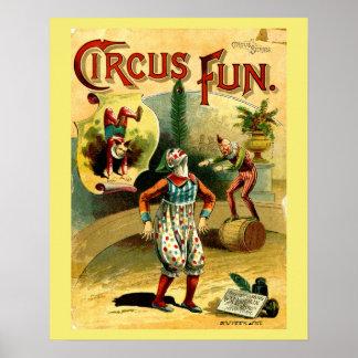 Vintage Circus Fun Children's Poster