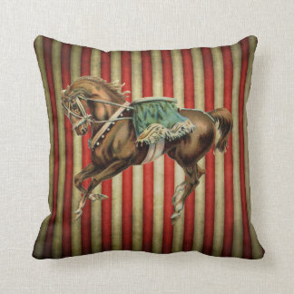 vintage circus horse throw pillow