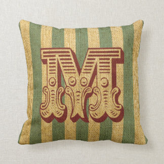 Vintage Circus Letter M Cushion