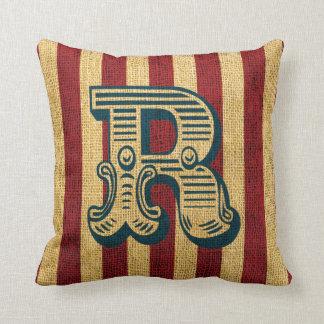 Vintage Circus Letter R Cushion