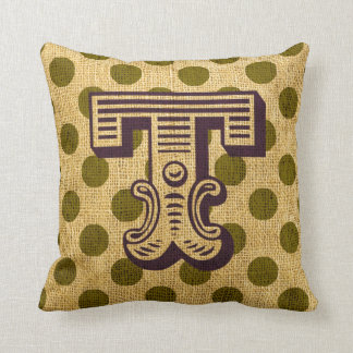 Vintage Circus Letter T Cushion