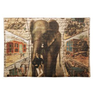 Vintage circus placemat