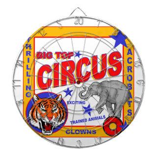 Vintage Circus Poster Dartboard