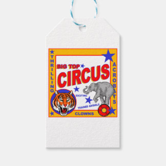 Vintage Circus Poster Gift Tags