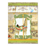 Vintage Circus Poster, Giraffe Birthday Party Personalised Announcement