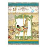 Vintage Circus Poster, Giraffe Birthday Party Invitation