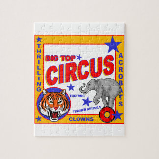 Vintage Circus Poster Jigsaw Puzzle