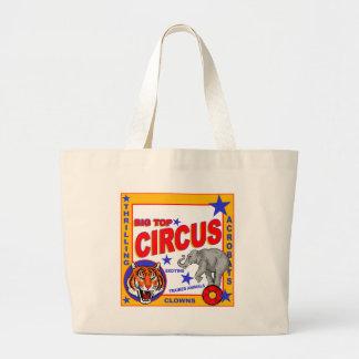 Vintage Circus Poster Large Tote Bag