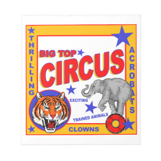 Vintage Circus Poster Notepad