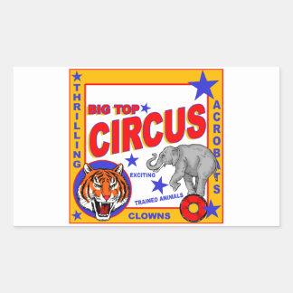 Vintage Circus Poster Rectangular Sticker