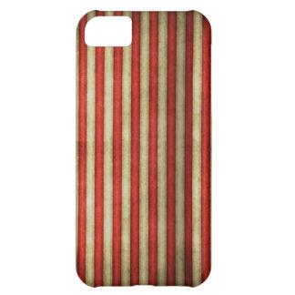 Vintage circus red grunge stripes stripe pattern iPhone 5C case