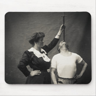 Vintage Circus Sideshow Sword Swallower Freak Mouse Pad