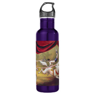 Vintage Circus Vaulting Art Customizable 710 Ml Water Bottle