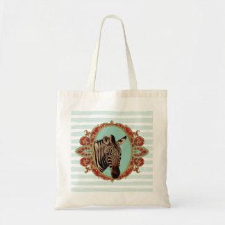 Vintage Circus Zebra Tote Bag