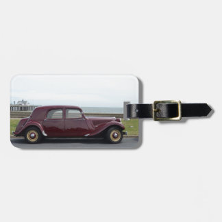 Vintage Citroen Traction Avant Luggage Tag