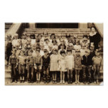 Vintage Class Photo Print