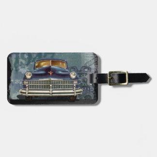 Vintage classic 1947 chrysler luggage tag