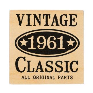 Vintage Classic 1961 Coaster Maple Wood Coaster
