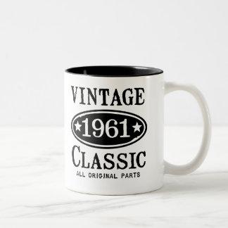 Vintage Classic 1961 Two-Tone Coffee Mug