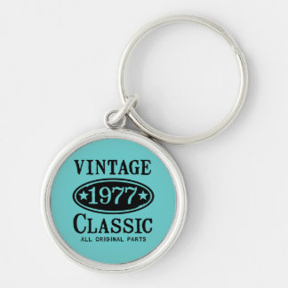 Vintage Classic 1977 Silver-Colored Round Key Ring