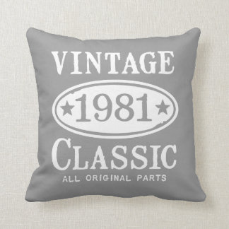 Vintage Classic 1981 Cushion