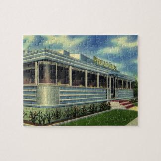 Vintage Classic 50s Retro Restaurant Pelican Diner Jigsaw Puzzle