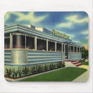 Vintage Classic 50s Retro Restaurant Pelican Diner Mousepads